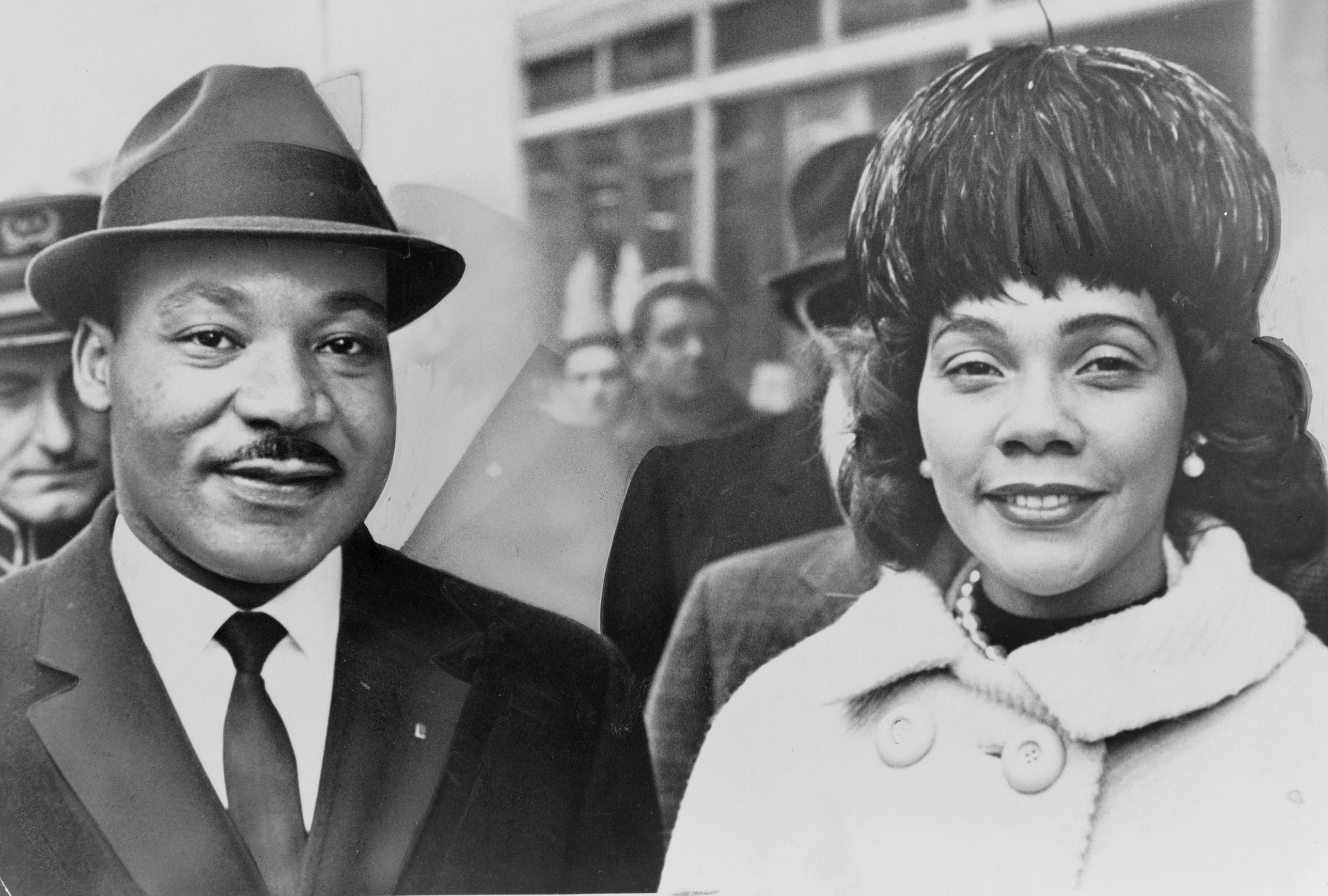 Martin Luther King oraz jego małżonka Coretta Scott King