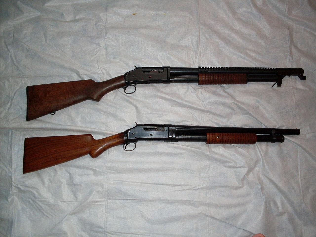 Winchester Model 1897 - pierwszy pump-action shotgun