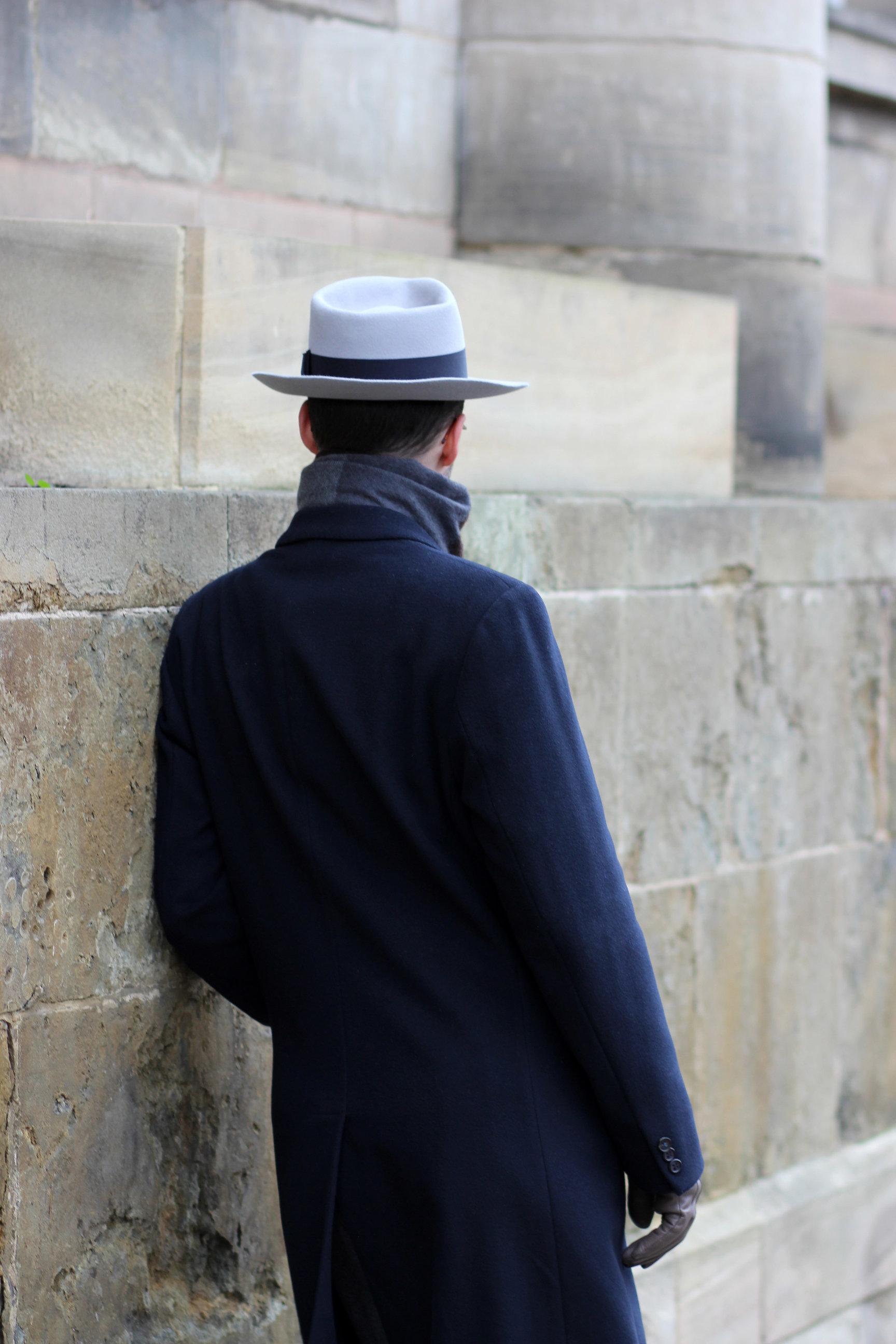 Ręcznie wykonany szary kapelusz fedora by LONG STORY SHORT