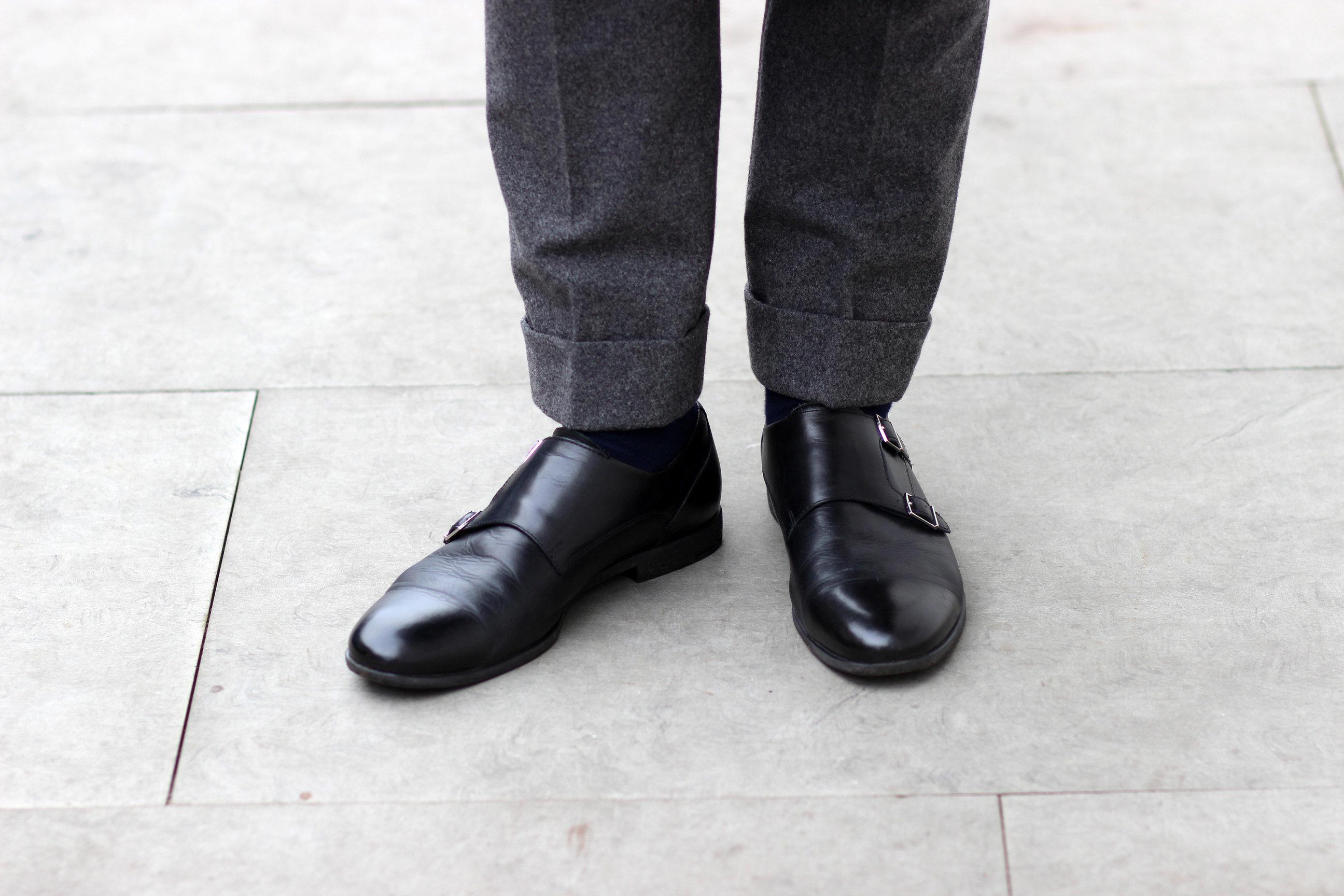 Szare flanelowe spodnie by LONG STORY SHORT