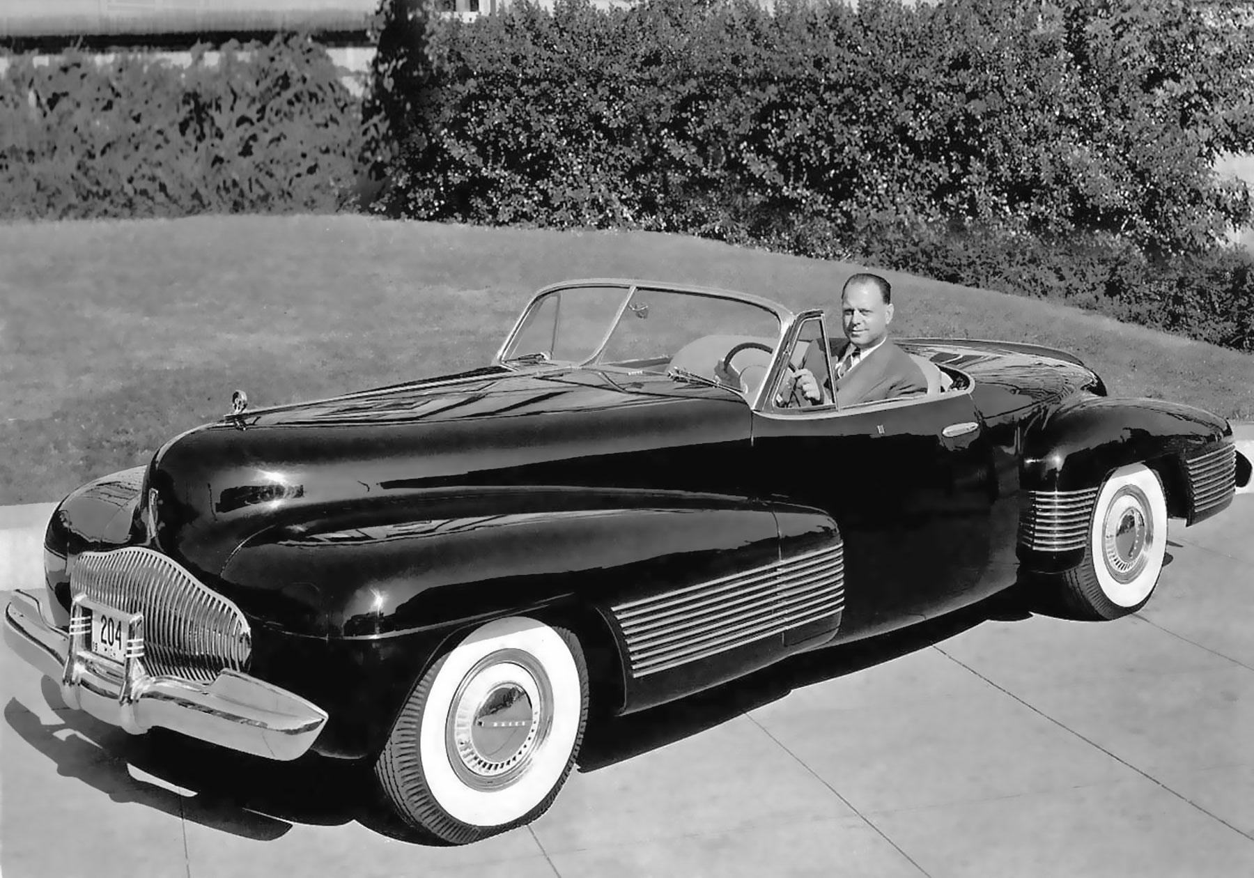 Harley Earl rok 1939' Buick Y-job Concept Car