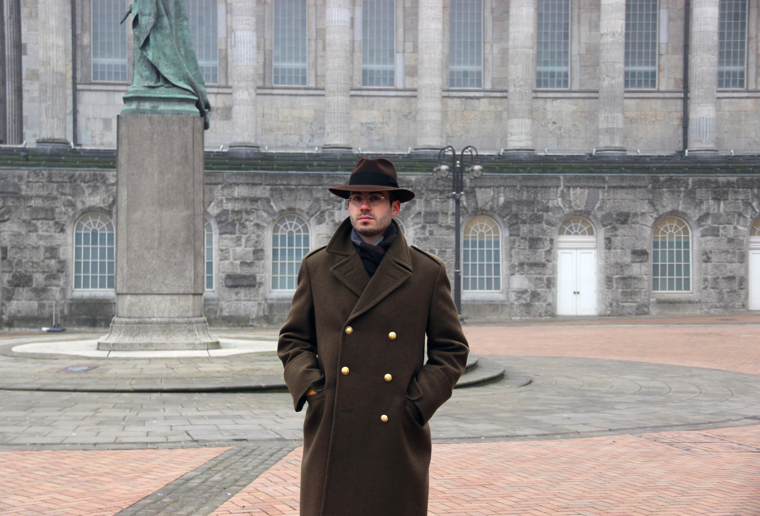 Stetson Temple & Army Green Ulster by LONG STORY SHORT