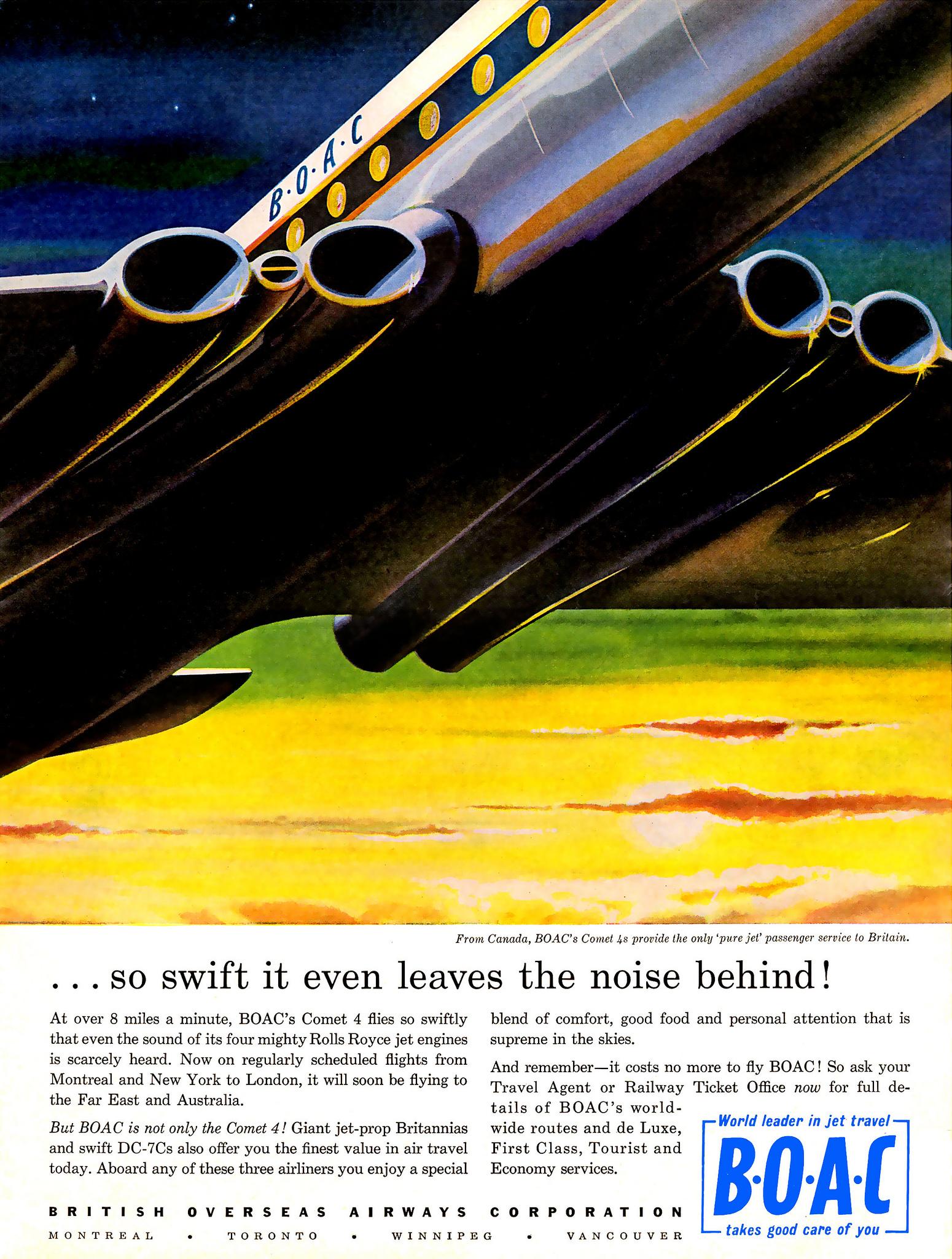 De Havilland Comet BOAC - podróż w wielkim stylu by LONG STORY SHORT