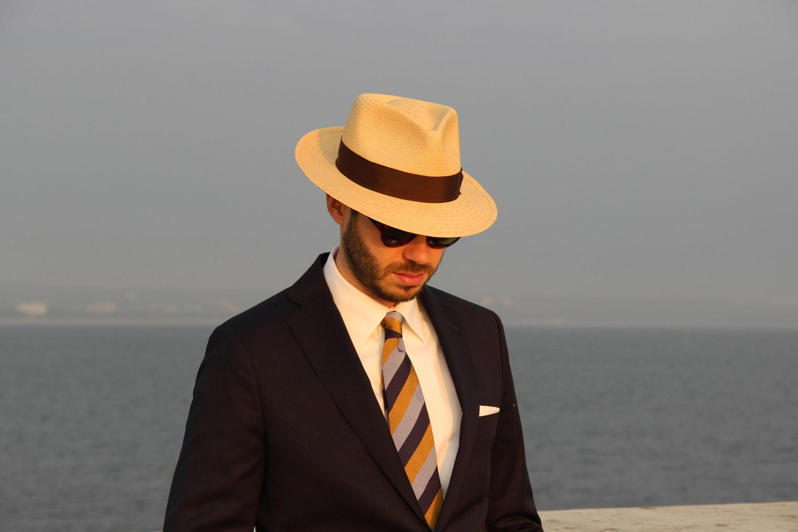 Letni Kapelusz Słomkowy Panama Kanotier Ekwadorski Letnia Elegancja Straw Hat Ecuador Witleather Skoczów